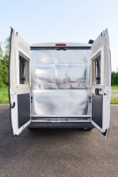 Foldable insulation for rear doors