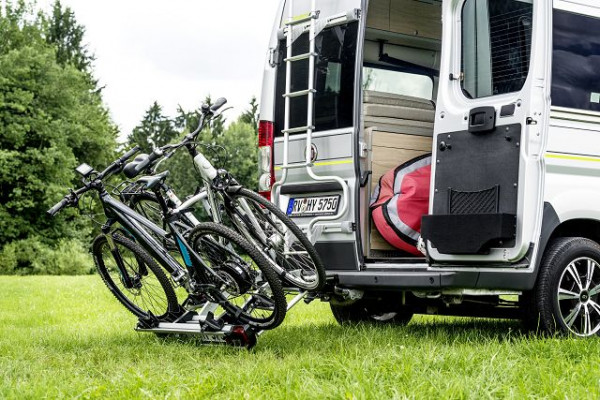 Folding bicycle rack – tow bar-mounted for 3 bicycles