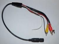 Adapterkabel HYMER Rückfahrkamera von Vorverkabelung auf Radio 2 X Chich in (für Einzel- und Doppelkamera)